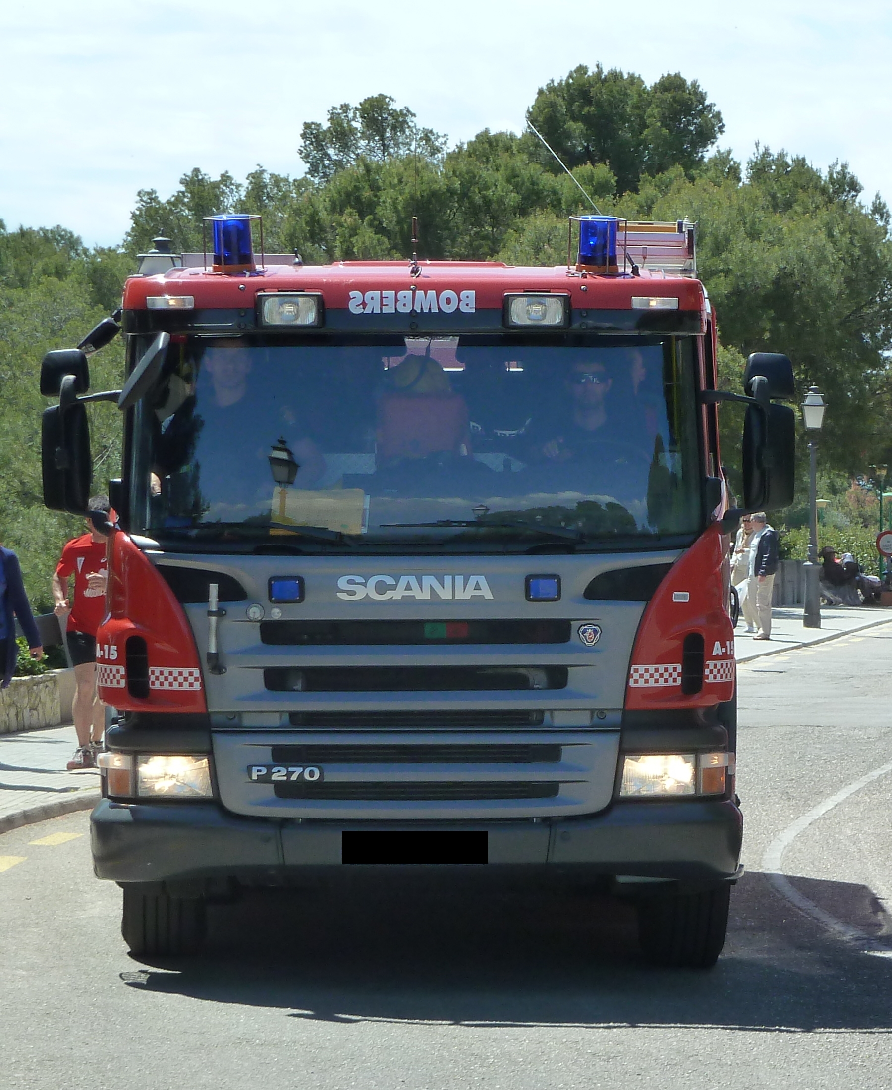 Einsatzfahrzeug der Bomberos de Palma de Mallorca