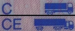 Auszüge Rückseite Führerschein