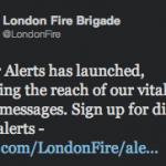 @LondonFire Twitter Alert