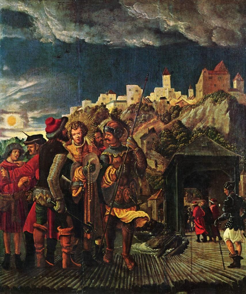 Floriansfolge, Szenen zur Legende des Hl. Florian, Szene: Gefangennahme des Hl. Florian