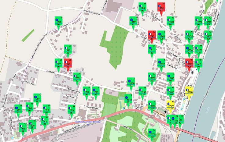 Beispiel für eine Übersichtskarte mit OpenStreetMap.