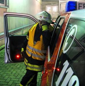 Funkender Feuerwehrmann. Foto: D. Dwenger, Soltau