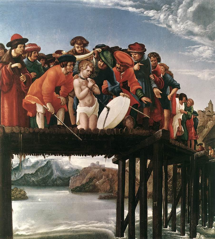 Das Martyrium des Florian, um 1530, von Albrecht Altdorfer (um 1480 - 1538) aus Galleria degli Uffizi in Florenz.