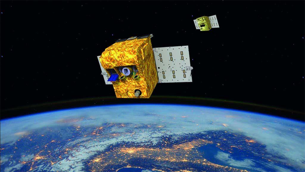 FireBIRD ist eine Mission zur Feuerfernerkundung und besteht aud den Kleinsatelliten BIROS und TET-1. Grafik: DLR