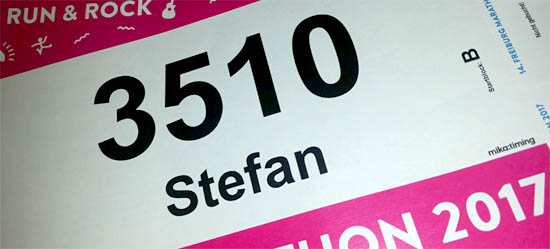 Startnummer Freiburg Halbmarathon