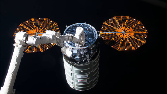 Cygnus Raumfrachter. Bild: NASA