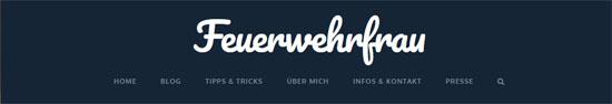 Screenshot Blog Feuerwehrfrau.ch